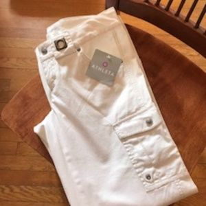 Athleta White cotton pants new with tags
